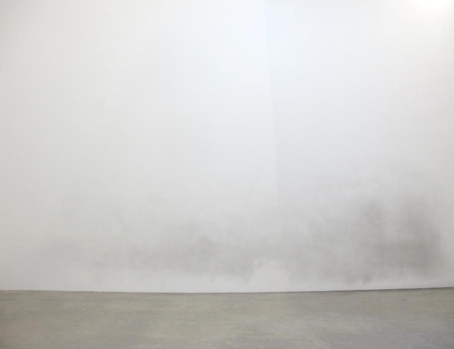 Untitled wall rubbing, steel wool, dimensions variable, 2011