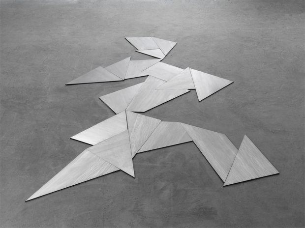 Untitled, steel, 18 elements, 270 x 170 x 0,6 cm, 2008