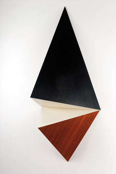 Untitled, wood and gloss paint, in 2 parts, 129 x 64 x 40 cm, 2007