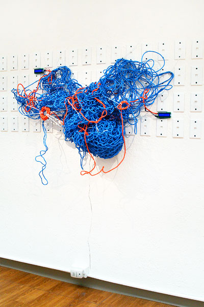 Laaagggggg in a complex system between us, mixed media sculpture, 2009